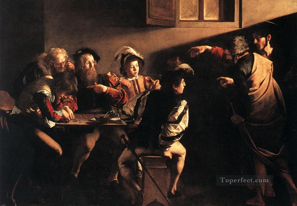 The Calling of Saint Matthew Caravaggio Oil Paintings