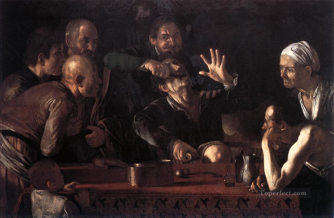 The Tooth Drawer Caravaggio Oil Paintings