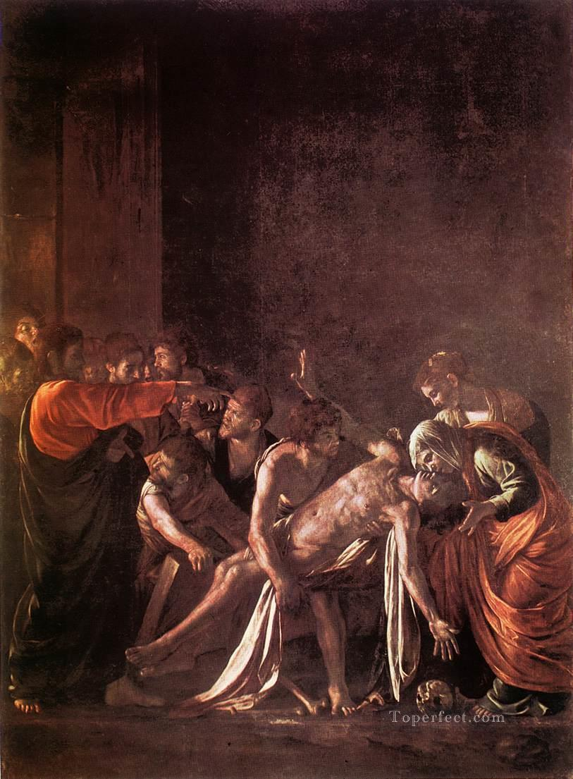 The Raising of Lazarus Baroque Caravaggio Oil Paintings