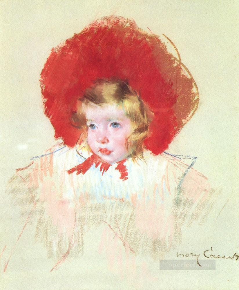 Child with a Red Hat mothers children Mary Cassatt Oil Paintings