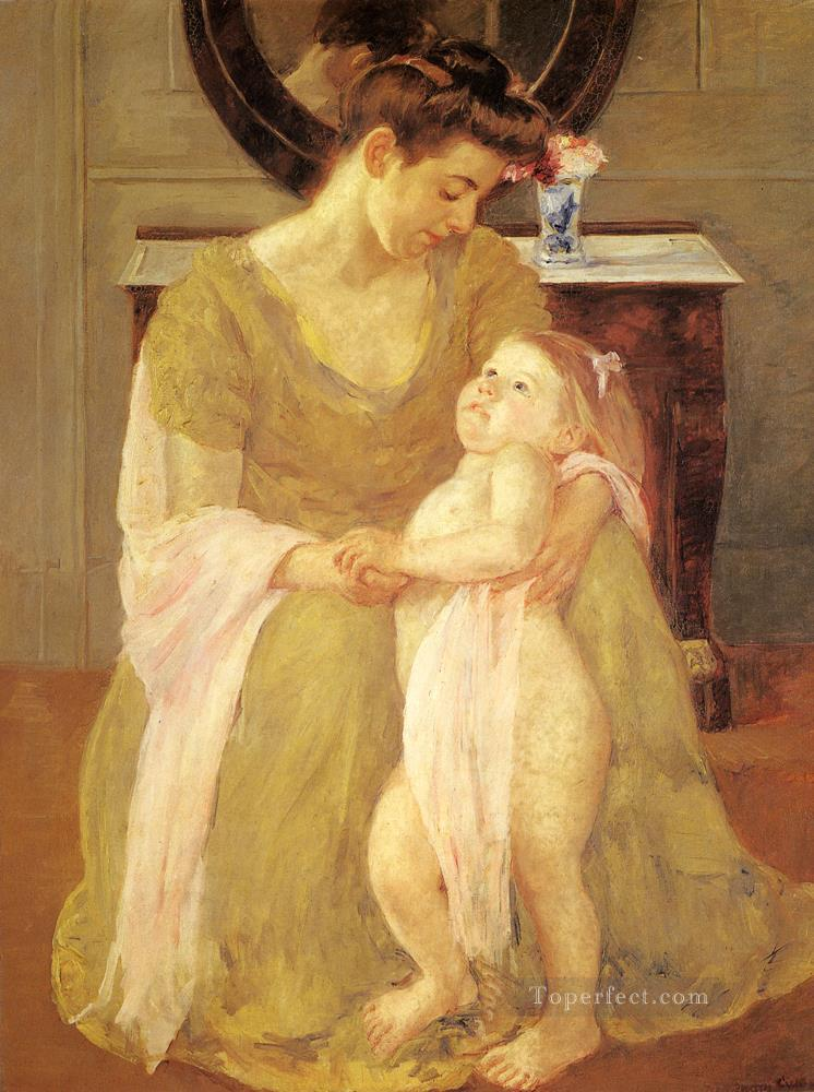 Mother And Child 1908 mothers children Mary Cassatt Oil Paintings