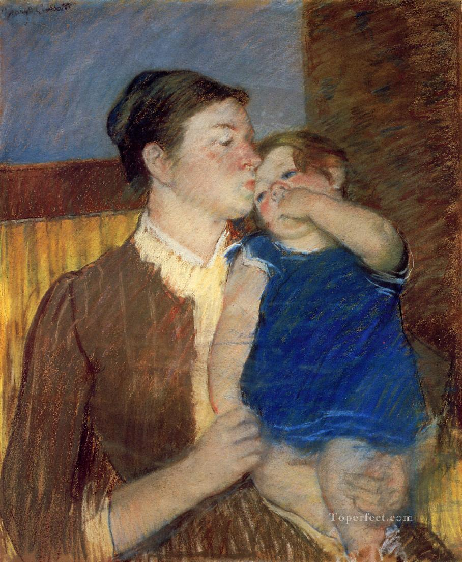 Mothers Goodnight Kiss mothers children Mary Cassatt Oil Paintings