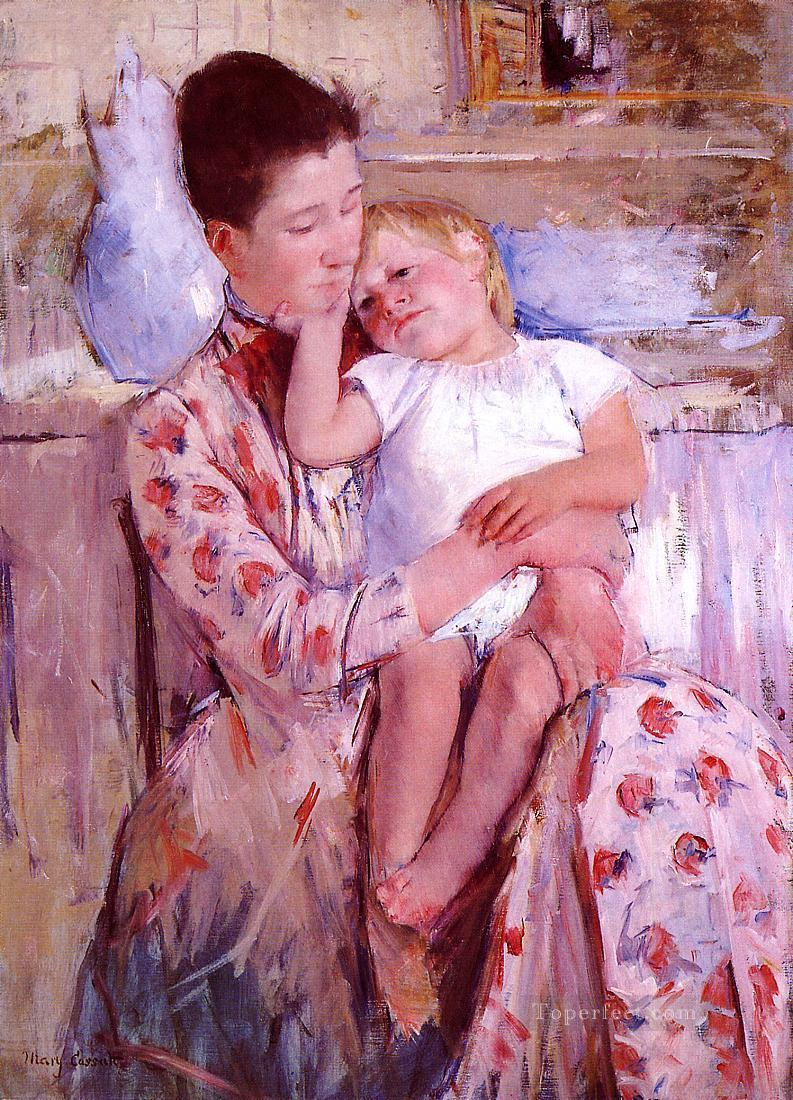 Emmie and Her Child mothers children Mary Cassatt Oil Paintings