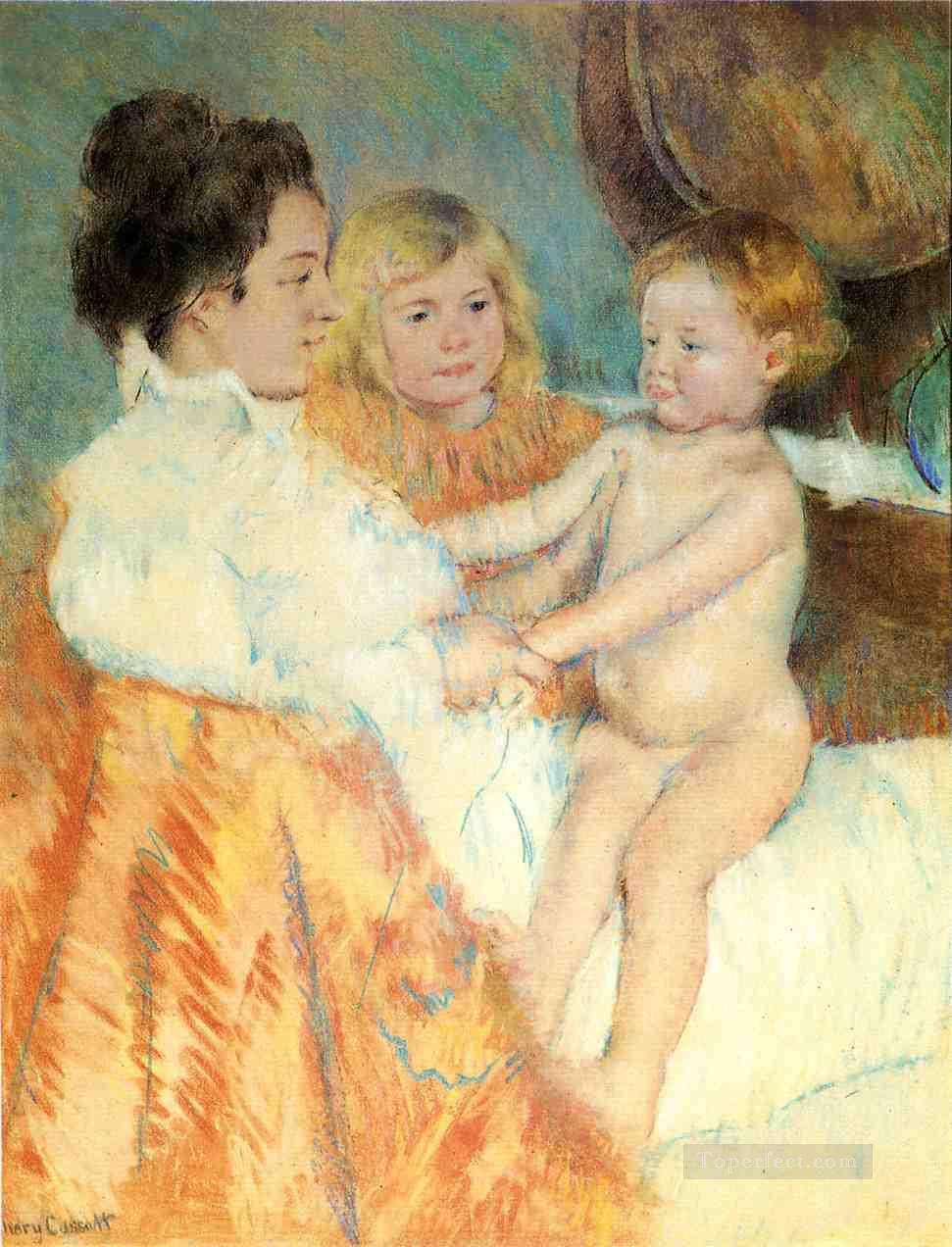 Mother Sara and the Baby counterproof mothers children Mary Cassatt Oil Paintings