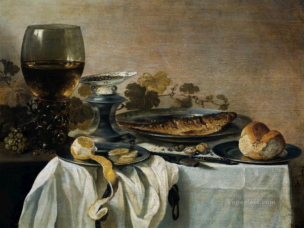 Fish still life Pieter Claesz Oil Paintings