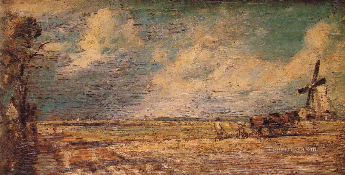 Spring Ploughing Romantic John Constable Oil Paintings