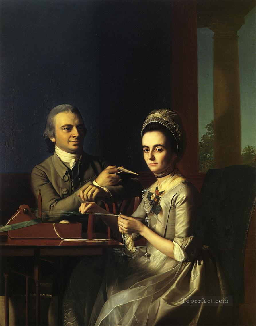 Mr and Mrs Thomas Mifflin Sarah Morris colonial New England Portraiture John Singleton Copley Oil Paintings