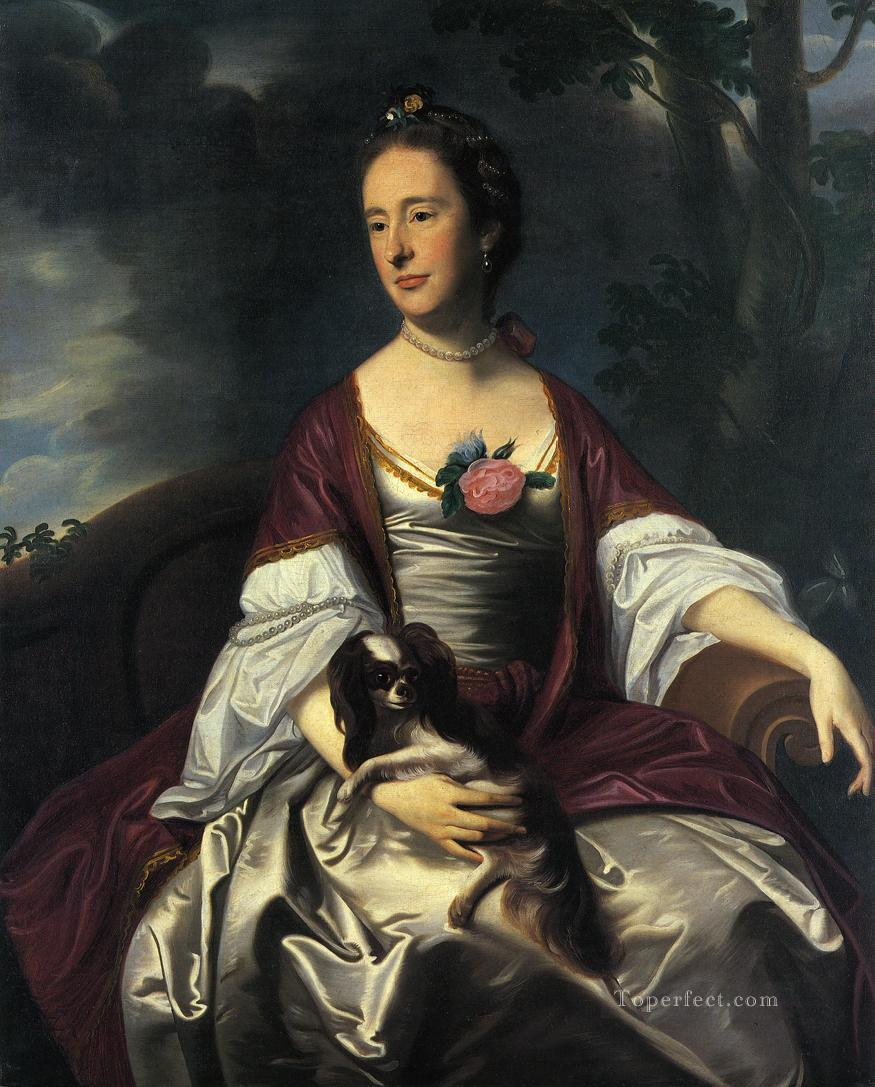 Mrs  Jerathmael Bowers colonial New England Portraiture John Singleton Copley Oil Paintings