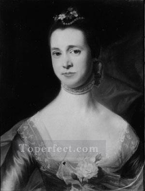 Mrs Edward Green colonial New England Portraiture John Singleton Copley Oil Paintings