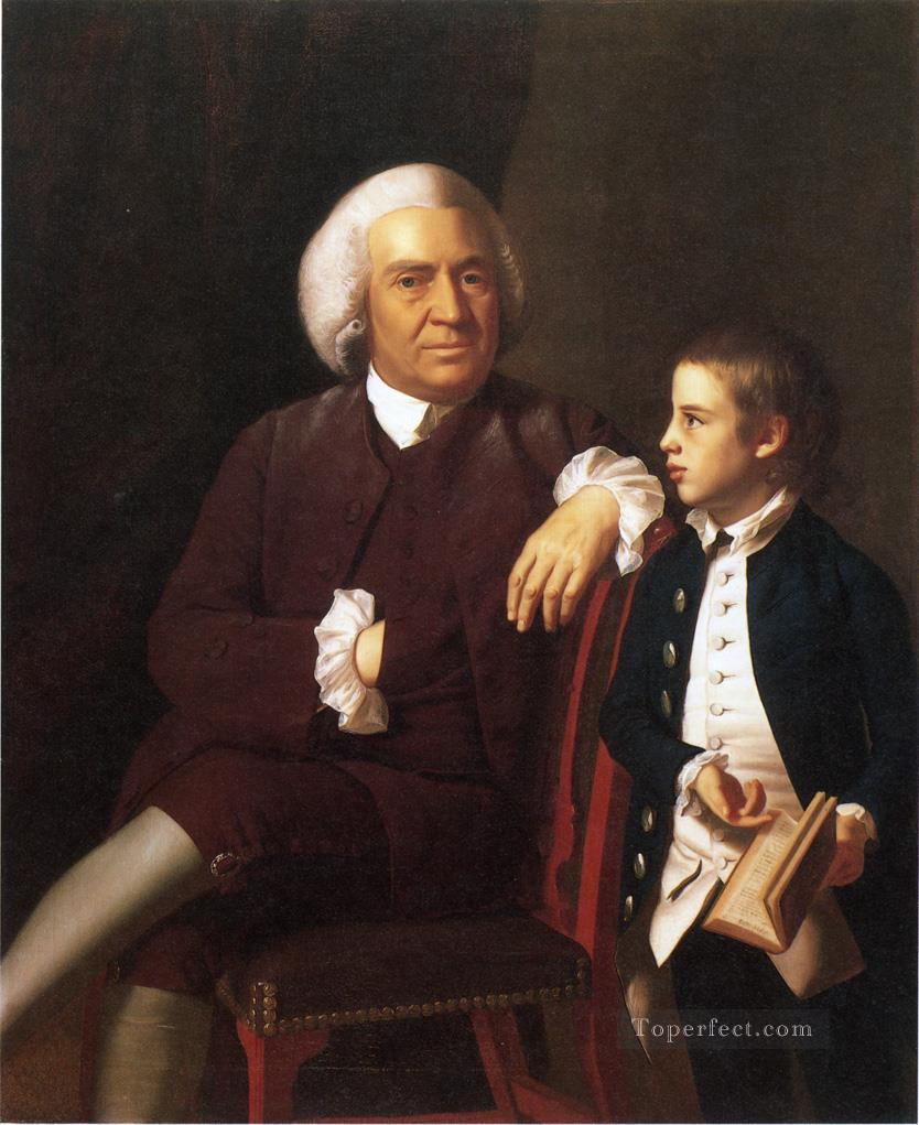 William Vassall and His Son Leonard colonial New England Portraiture John Singleton Copley Oil Paintings