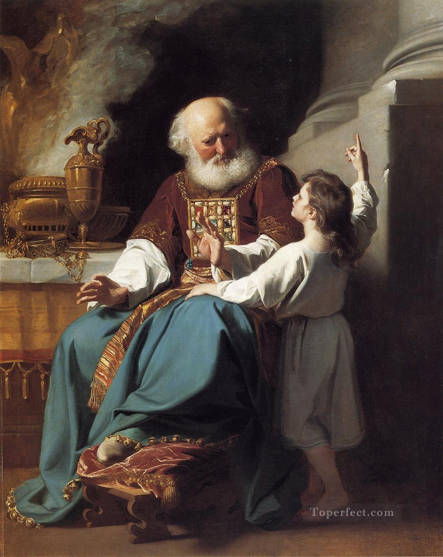 Samuel Reading to Eli the Judgments of God Upon Elis House colonial New England Portraiture John Singleton Copley Oil Paintings