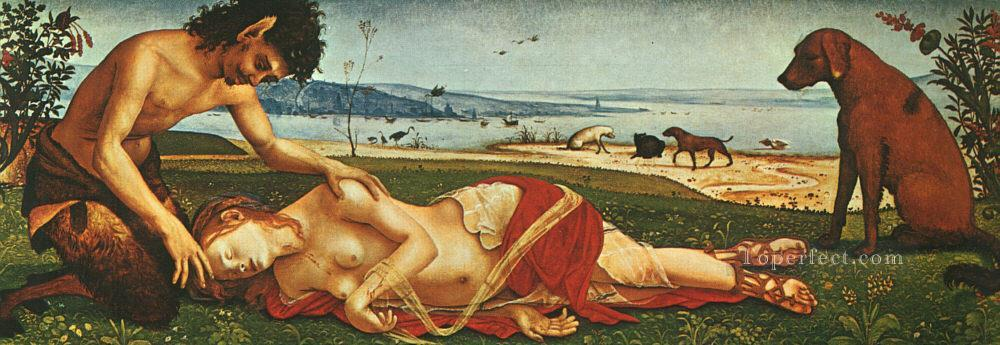 The Death of Procris 1500 Renaissance Piero di Cosimo Oil Paintings