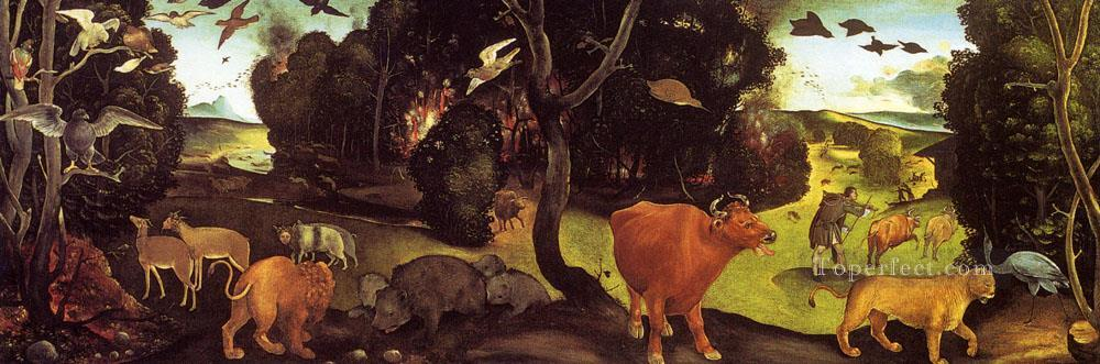 The Forest Fire Renaissance Piero di Cosimo Oil Paintings