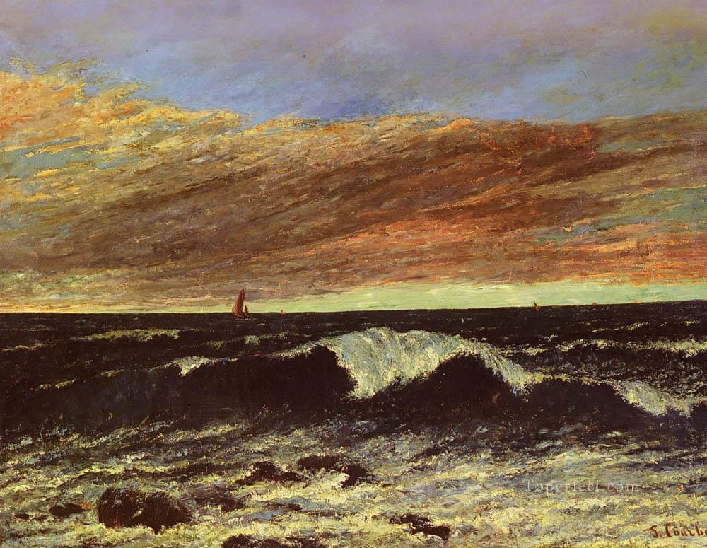 La Vague Realist painter Gustave Courbet Oil Paintings