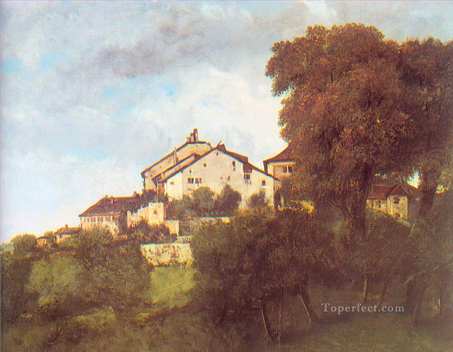 The Houses of the Chateau DOrnans Realist painter Gustave Courbet Oil Paintings