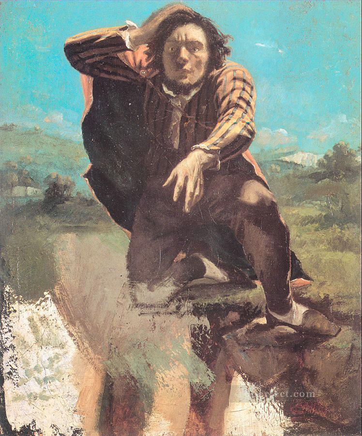The Desperate Man The Man Made by Fear Realist Realism painter Gustave Courbet Oil Paintings