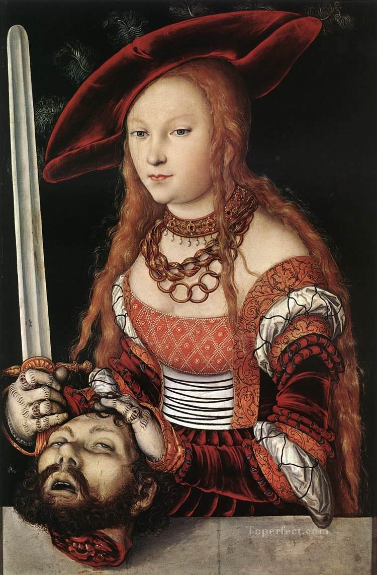 Judith With Head Of Holofernes Renaissance Lucas Cranach the Elder Oil Paintings