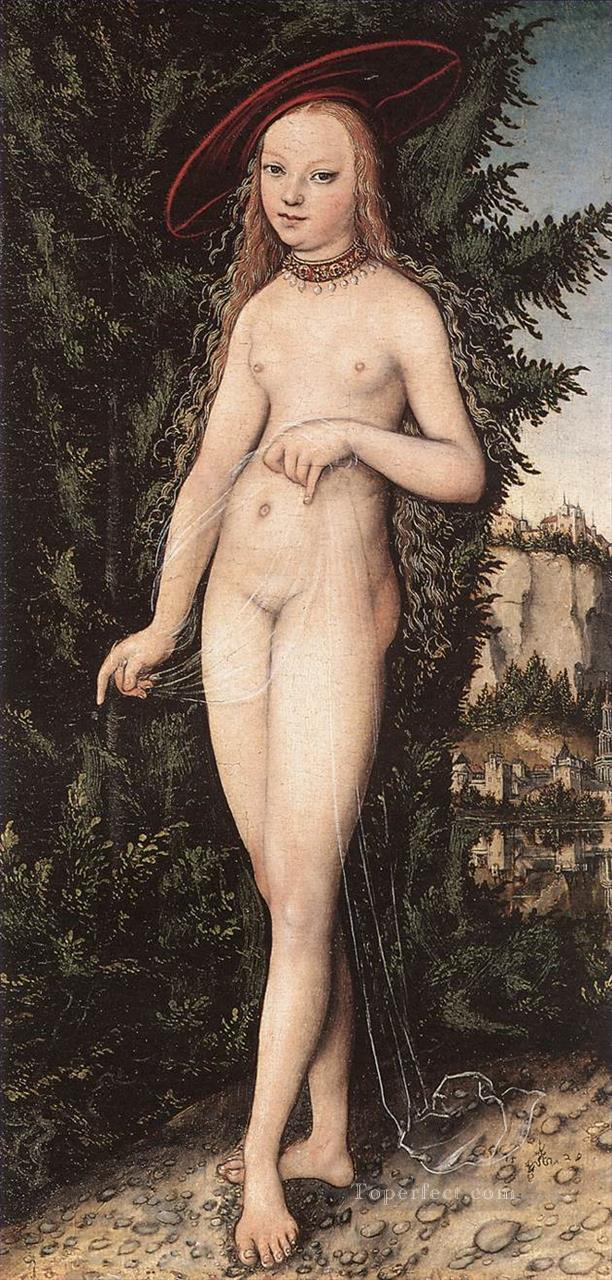 Venus Standing In A Landscape Lucas Cranach the Elder Oil Paintings