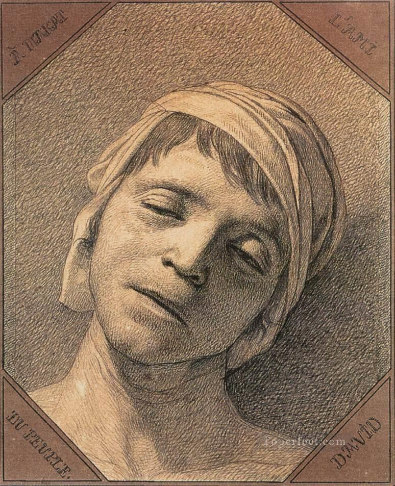 Head of the Dead Marat Neoclassicism Jacques Louis David Oil Paintings