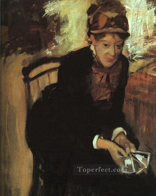 Portrait of Mary Cassatt Edgar Degas Oil Paintings