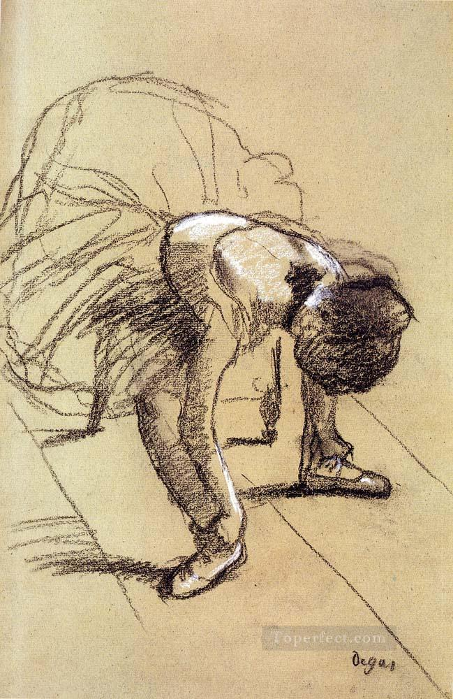 Seated Dancer Adjusting Her Shoes Impressionism ballet dancer Edgar Degas Oil Paintings