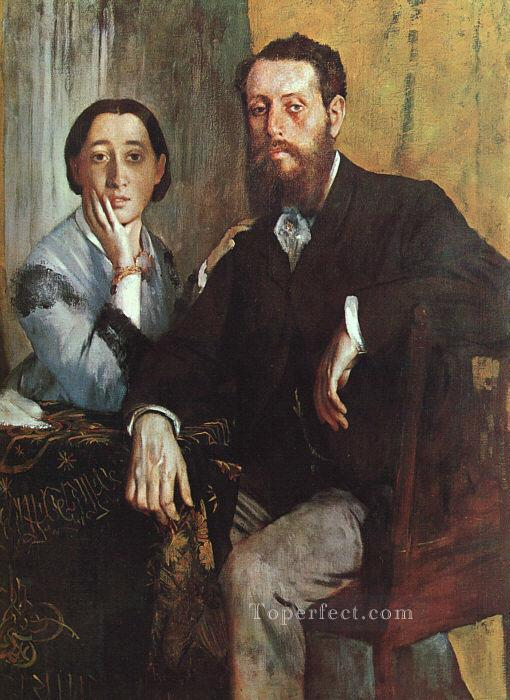 The Duke and Duchess Morbilli Edgar Degas Oil Paintings