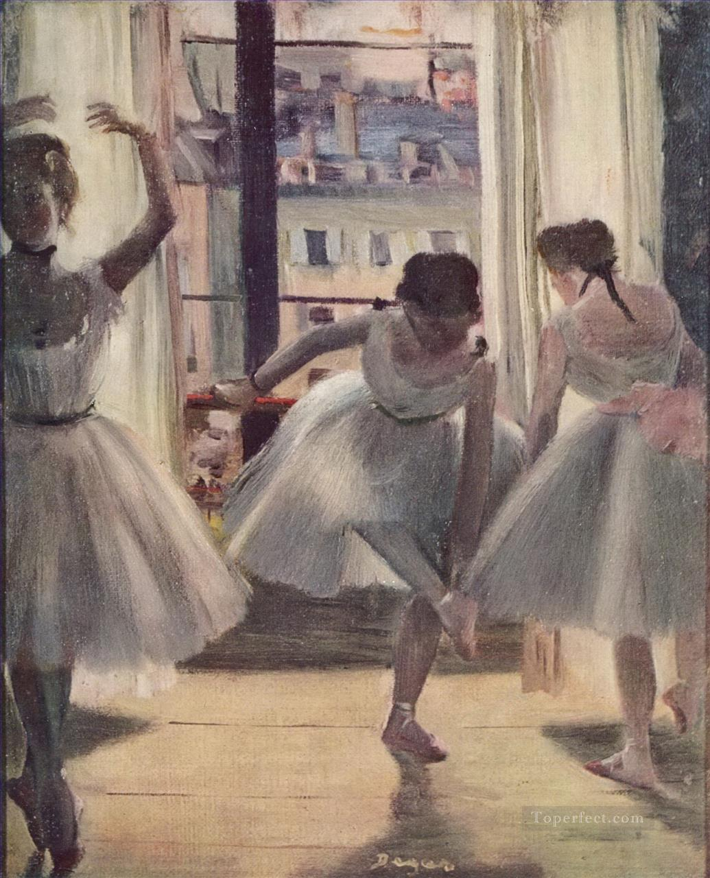 ballet dancers window Edgar Degas Oil Paintings