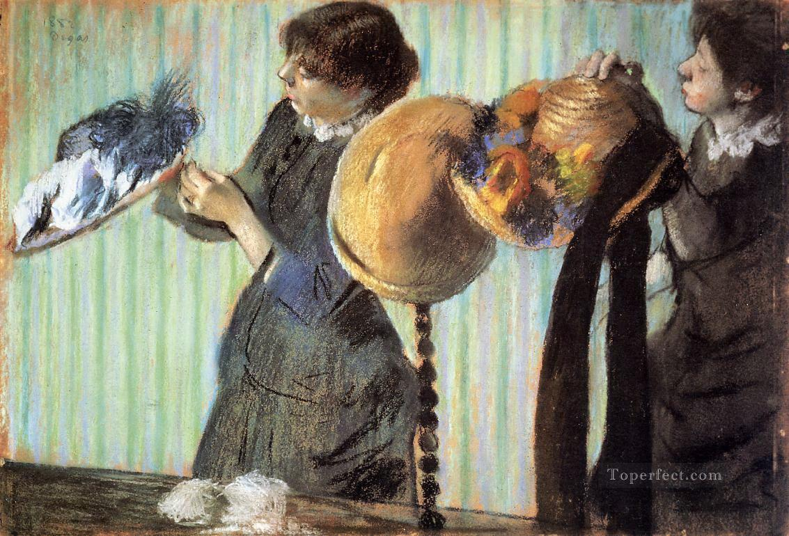the little milliners 1882 Edgar Degas Oil Paintings