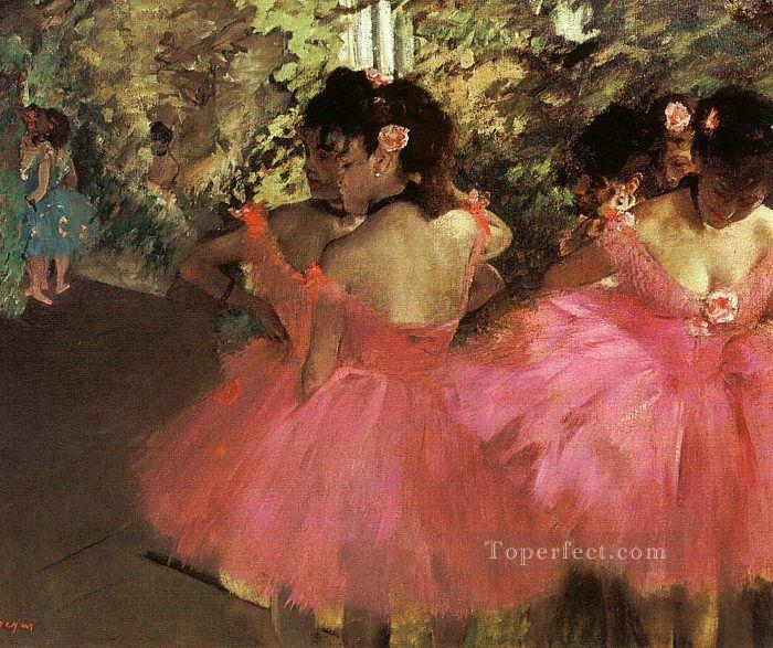 Dancers in Pink Impressionism ballet dancer Edgar Degas Oil Paintings