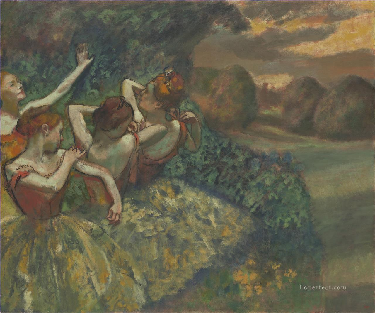 Four Dancers Impressionism ballet dancer Edgar Degas Oil Paintings