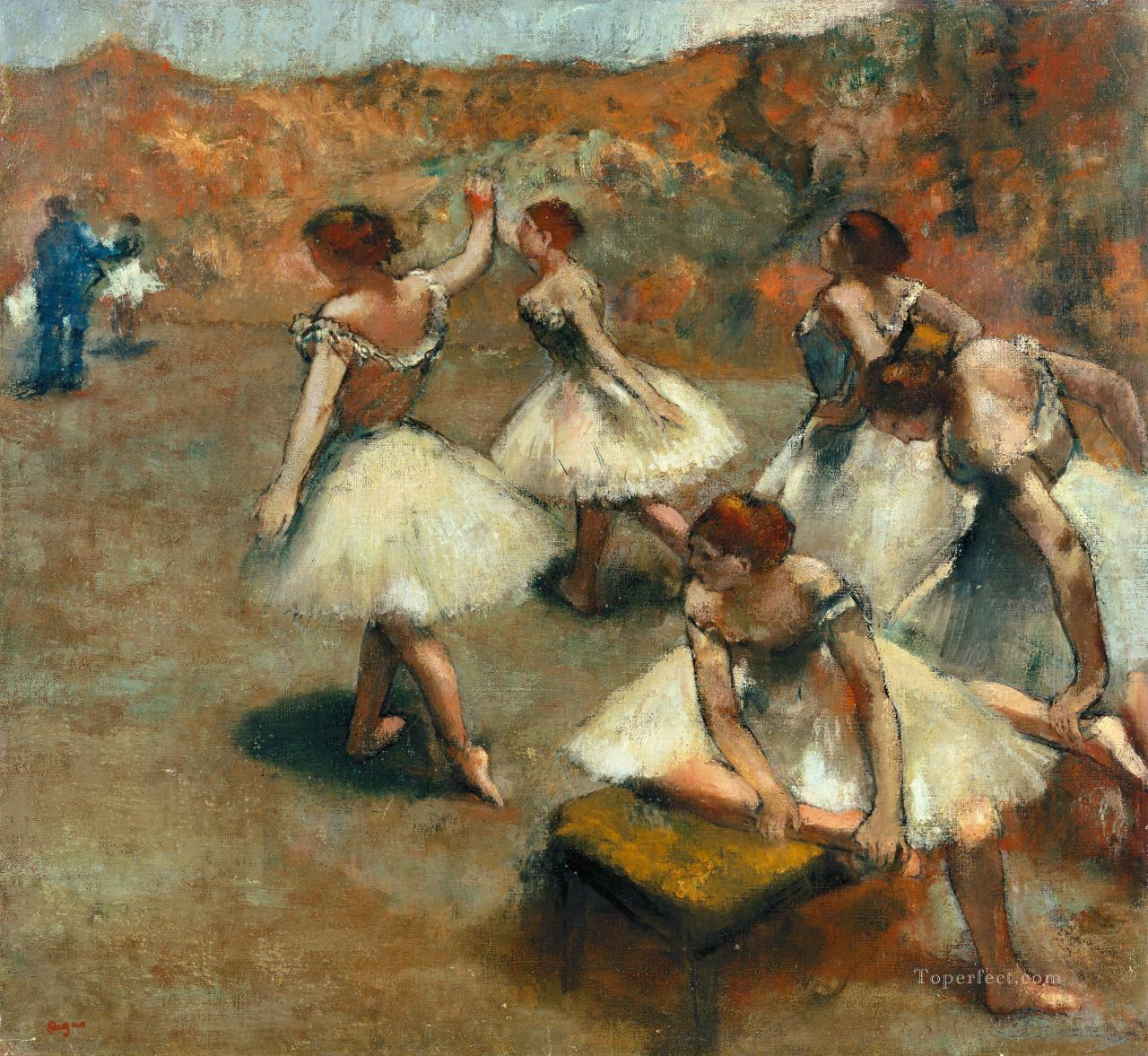 rehearse outside Edgar Degas Oil Paintings
