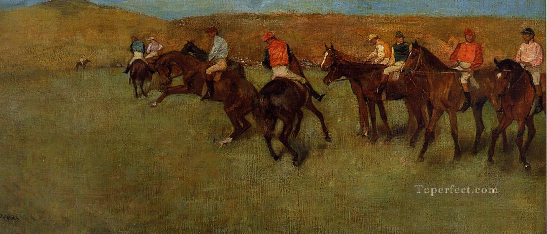 At the Races Before the Start Edgar Degas Oil Paintings