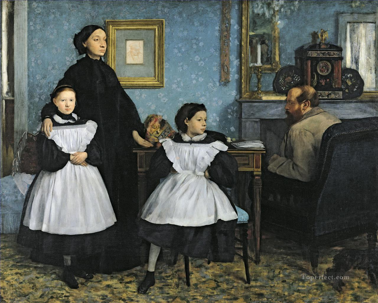 Belleli Family Edgar Degas Oil Paintings