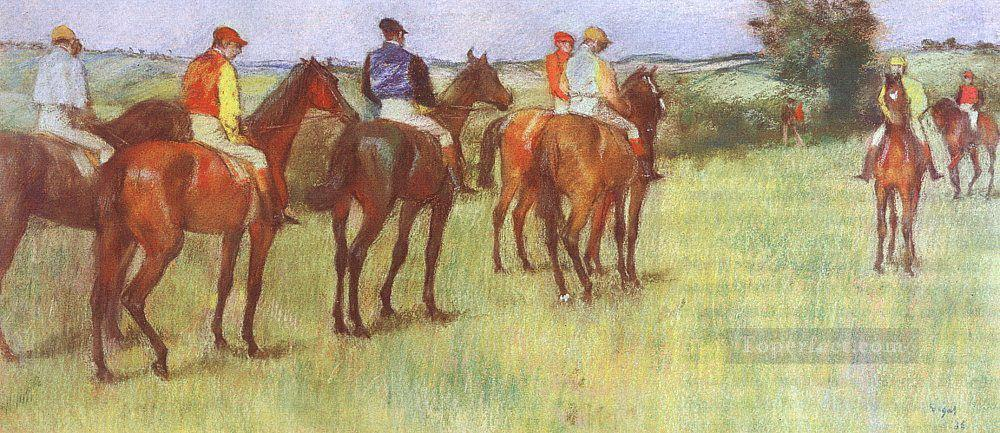 jockeys Edgar Degas Oil Paintings