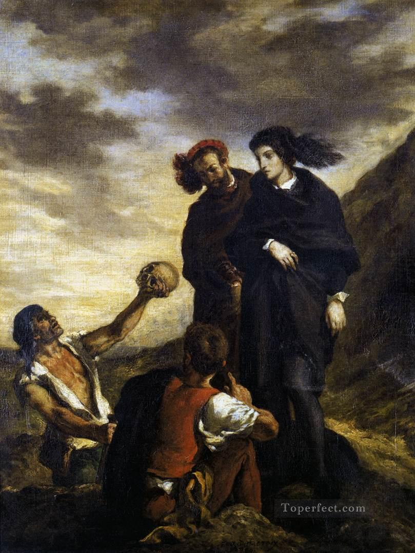 Hamlet and Horatio in the Graveyard Romantic Eugene Delacroix Oil Paintings