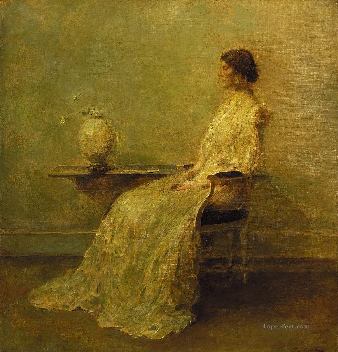 lady in white Thomas Dewing Oil Paintings
