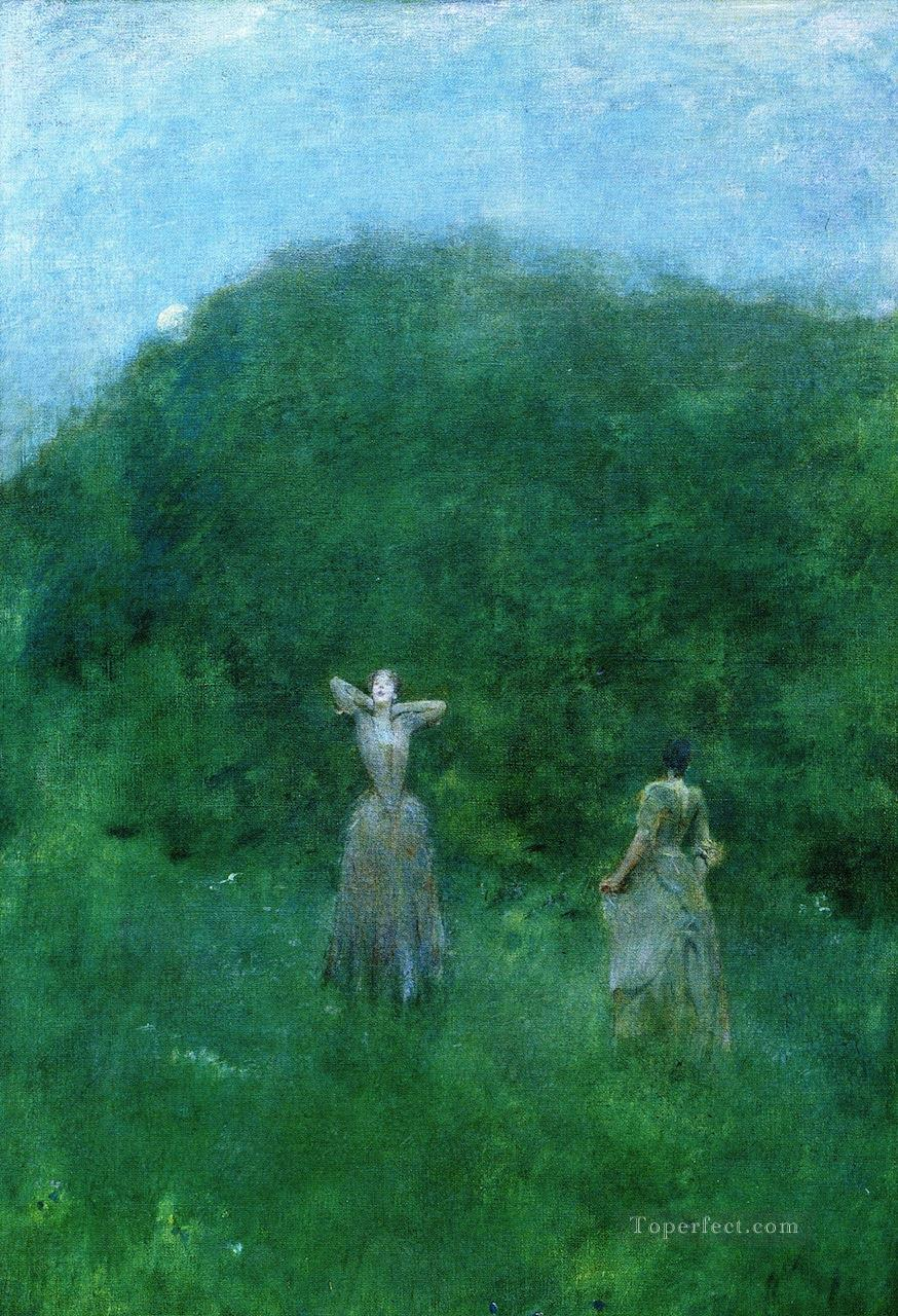 ladies Thomas Dewing Oil Paintings