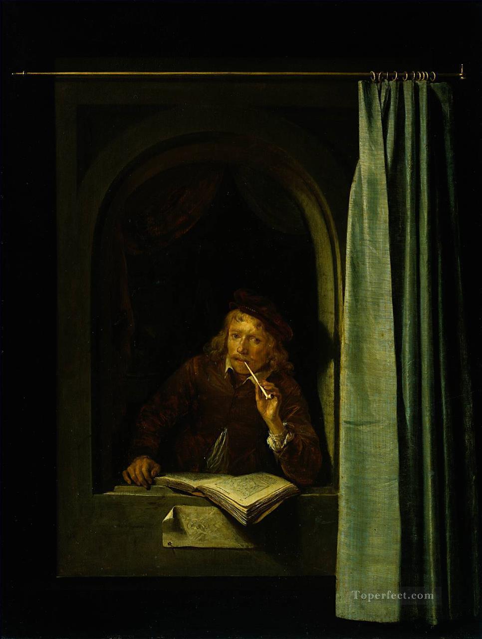 Dou Gerard Self Portrait Golden Age Gerrit Oil Paintings