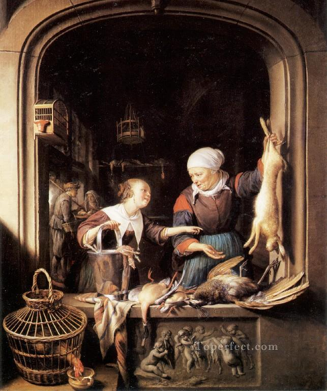 Poult Golden Age Gerrit Dou Oil Paintings