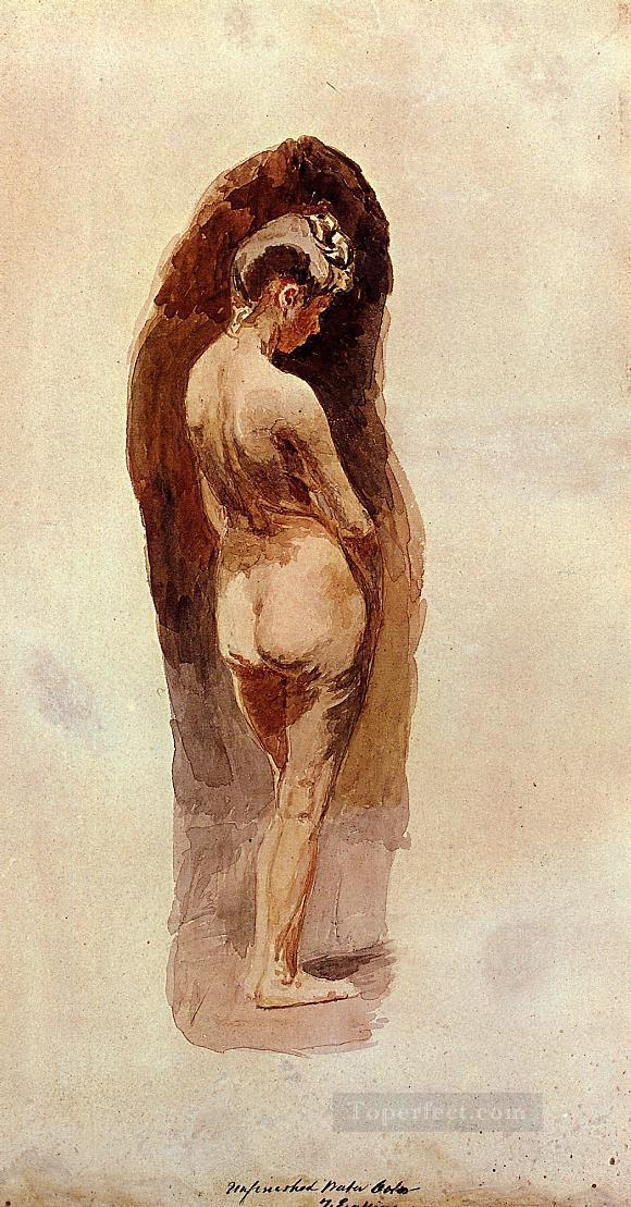 Female Nude Realism Thomas Eakins Oil Paintings