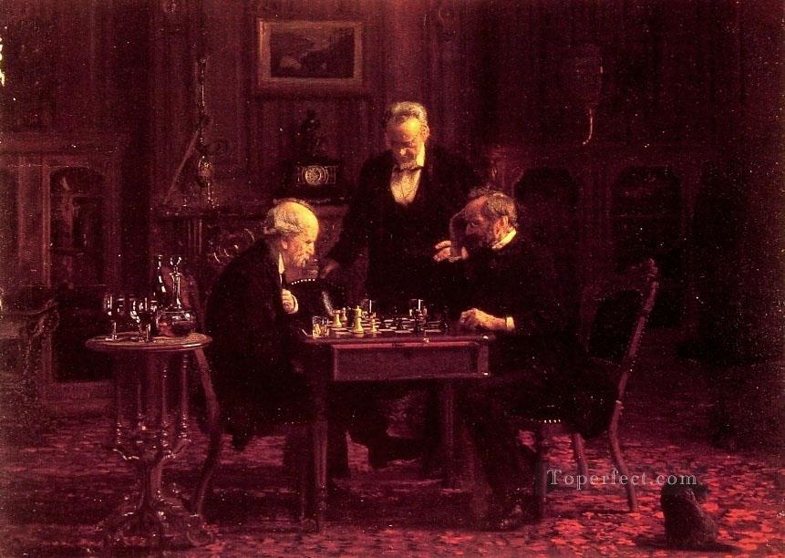 The Chess Players Realism Thomas Eakins Oil Paintings