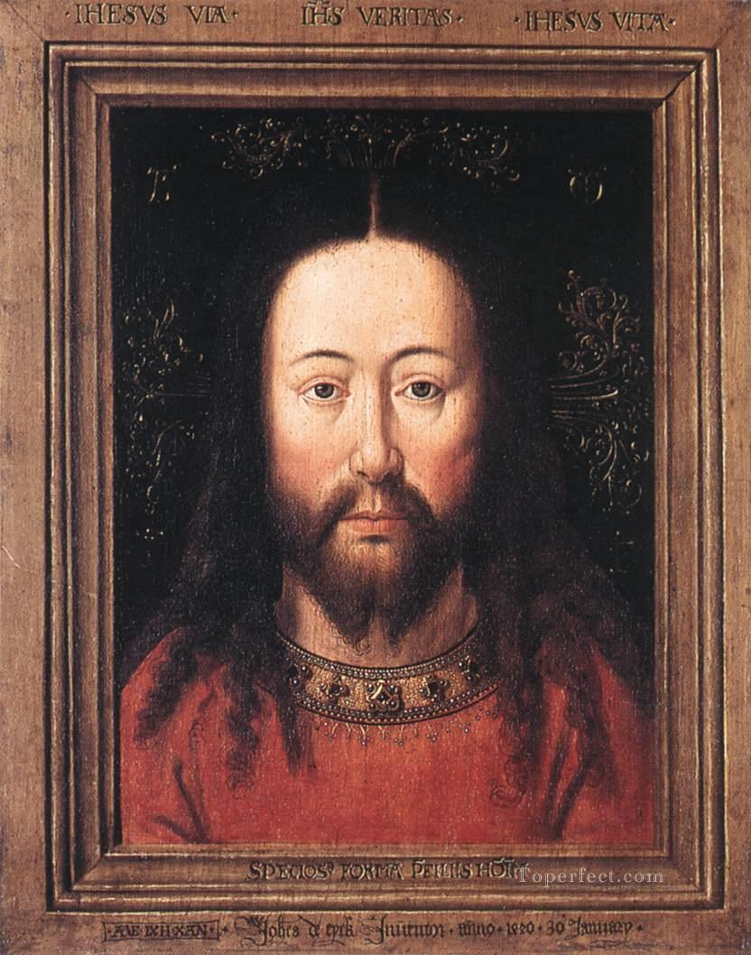 Portrait of Christ Renaissance Jan van Eyck Oil Paintings