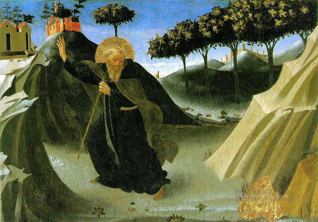 Saint Anthony The Abbot Tempted By A Lump Of Gold Renaissance Fra Angelico Oil Paintings