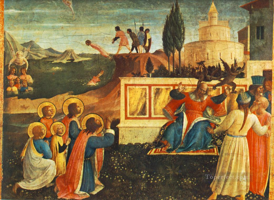 Saint Cosmas And Saint Damian Condamned Renaissance Fra Angelico Oil Paintings