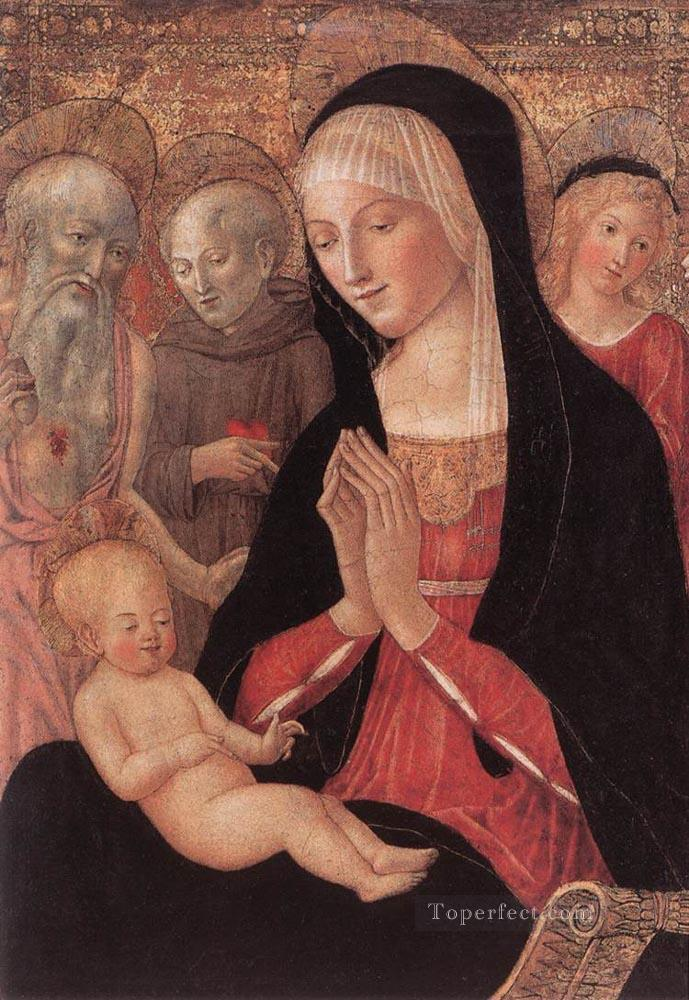 Madonna And Child With Saints And Angels Sienese Francesco di Giorgio Oil Paintings