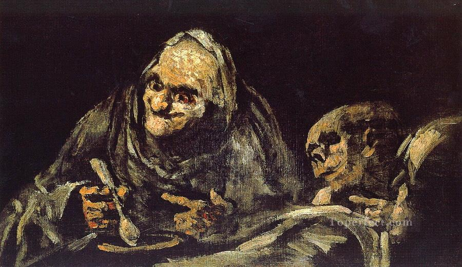 Old eating soup Francisco de Goya Oil Paintings