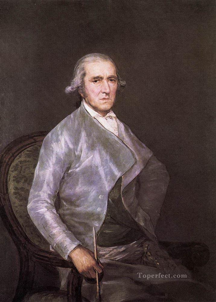 Portrait of Francisco Bayeu Romantic modern Francisco Goya Oil Paintings