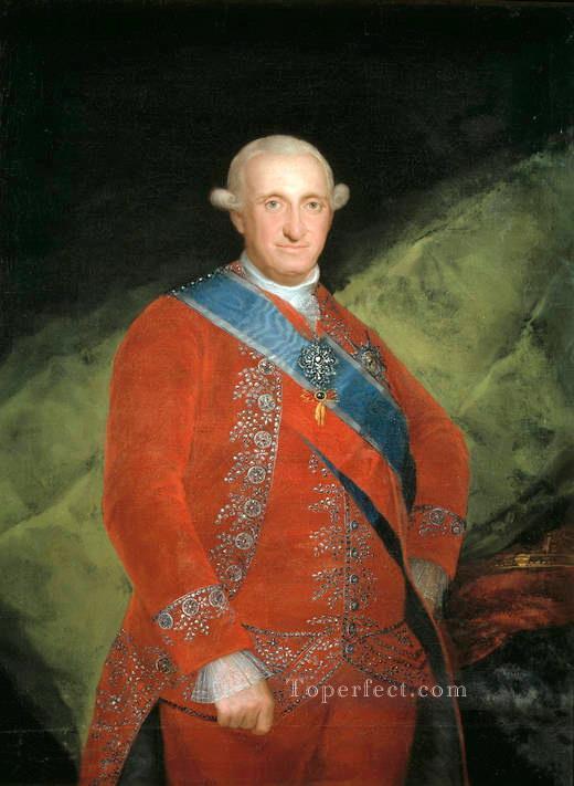Portrait Of Charle Iv Of Spain Francisco De Goya Painting