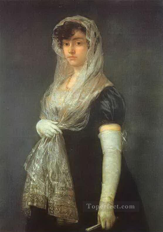 the Bookseller Wife Francisco de Goya Oil Paintings