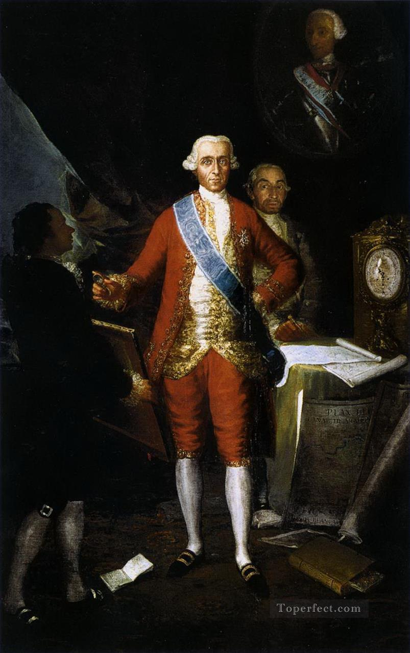 The Count of Floridablanca Francisco de Goya Oil Paintings